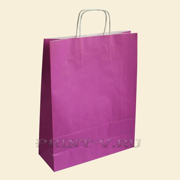 Сиреневые крафт-пакеты
