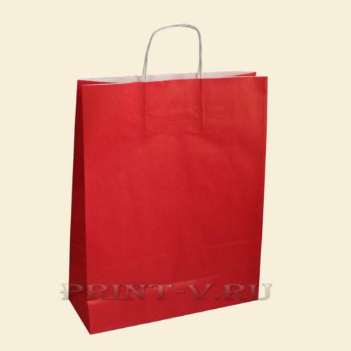 Красные крафт-пакеты