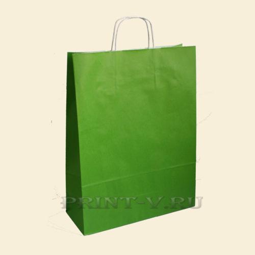 Зеленые крафт-пакеты
