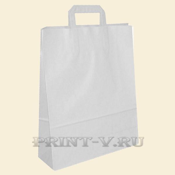 Пакет белый крафт