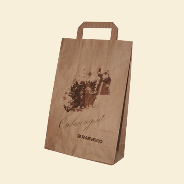 Пакет коричневый крафт