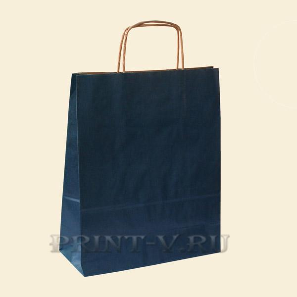 Синие крафт-пакеты