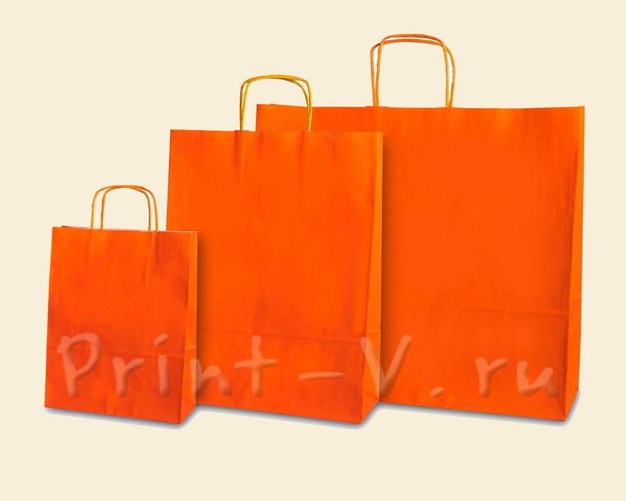 Оранжевые крафт-пакеты